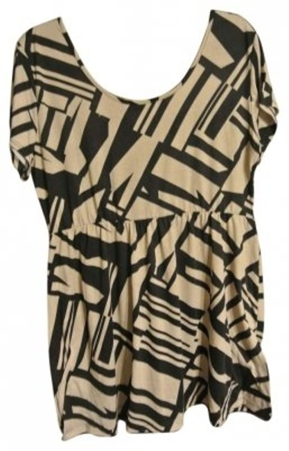 Preload https://item5.tradesy.com/images/annabelle-black-and-tan-a-line-geometric-sleeve-above-knee-short-casual-dress-size-26-plus-3x-145694-0-0.jpg?width=400&height=650