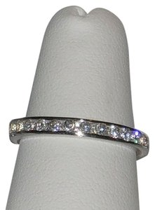 J Brand Genuine 925 Sterling Silver Rhodium Finish Eternity Band Ring Size 5 6 7 8 9 10
