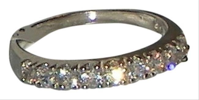 Item - Clear Genuine 925 Sterling Silver 9 Stone Round Cut Cz Size 5 6 7 8 9 10 Ring