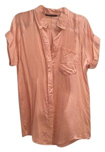 William Rast Button Down Shirt Light pink