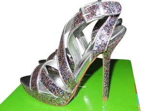 Charles by Charles David Sparkle Glitter Holiday Muliti Color Sandals