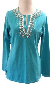 Brooks Brothers Cotton Silk Nylon Chic Aqua Tunic