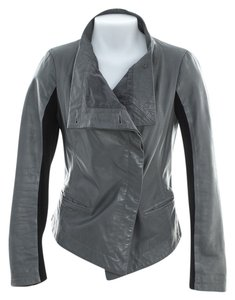 Graham & Spencer gray Leather Jacket