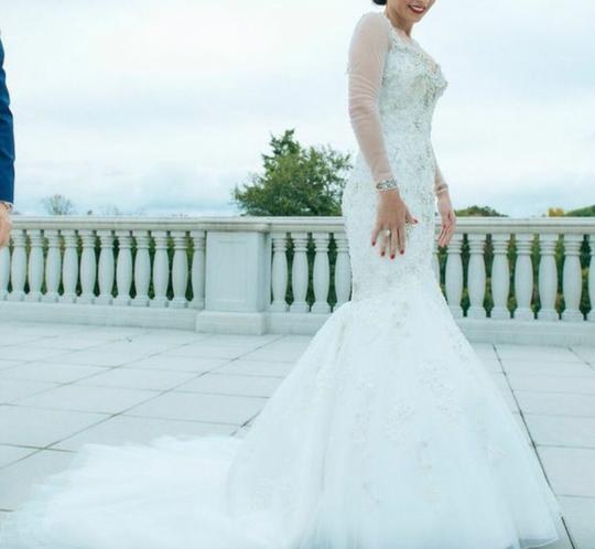 Ysa Makino Off White Wedding Dress Size 4 (S)