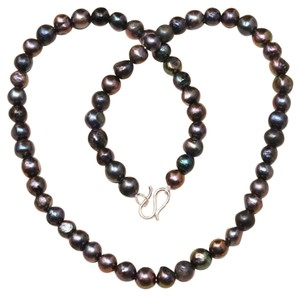 indie New Rainbow Pearl Sterling Necklace