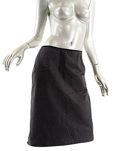 Oscar de la Renta Twill Straight Skirt Black