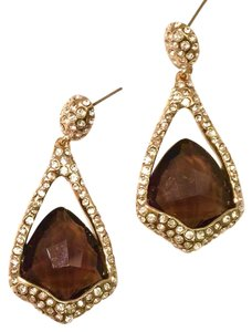 Alexis Bittar Miss Havisham Smoky Quartz & Crystal Drop Earrings