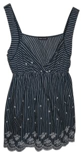 Wet Seal Embroidery Top Black & White
