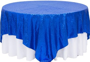 15 Sequins Royal Blue Overlays 90x90 Brand New