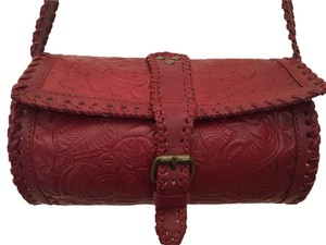 Ecote Embossed Leather Cross Body Bag