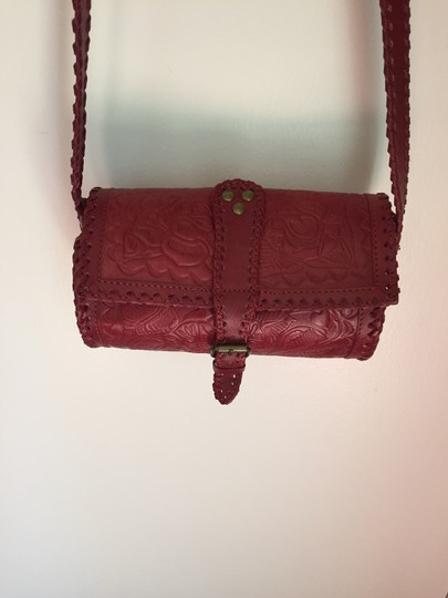 Ecote Embossed Leather Cross Body Bag Image 1