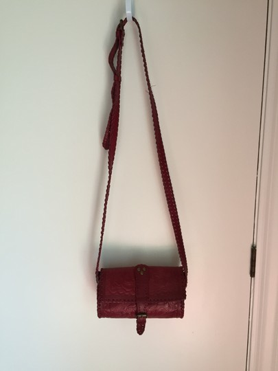 Ecote Embossed Leather Cross Body Bag Image 2
