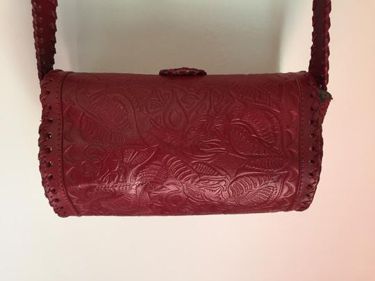 Ecote Embossed Leather Cross Body Bag Image 4