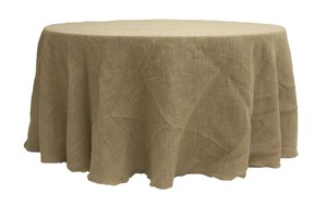 25 Burlap Tablecloth 120