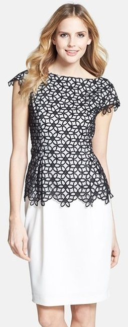 Preload https://item3.tradesy.com/images/adrianna-papell-black-and-white-caged-lace-above-knee-cocktail-dress-size-2-xs-1457302-0-0.jpg?width=400&height=650
