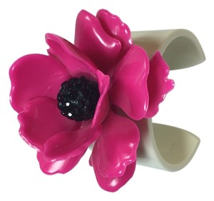 Kate Spade NEW Kate Spade Les Fleur Hot Pink Flower Cuff Bracelet! Great Retro 60's Chic! Perfect & Pristine!