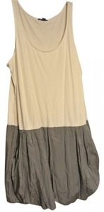 Gap short dress gray, cream Bubble Skirt Sleeveless Color Block on Tradesy