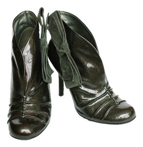 Jessica Simpson Faux Patent Side Bow Gunmetal Charcoal Boots