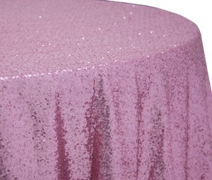 """Pink 1 X Sequins 132"""" Round Tablecloth"""
