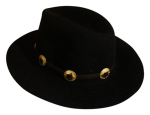 Lovely Bird Sam Miguel Gold Concho Hat in Black