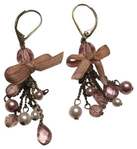 Banana Republic Pink bow Dangle Earrings