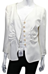 Armani Collezioni Blazer Button Down Shirt Off-White