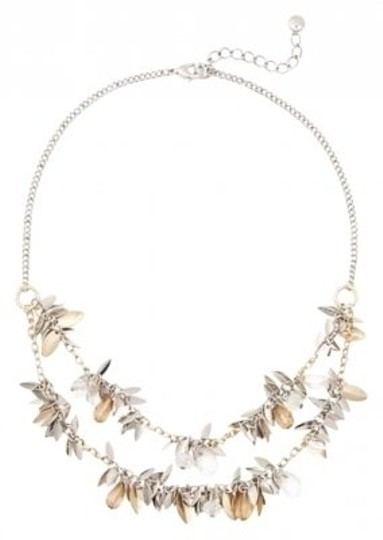 Preload https://img-static.tradesy.com/item/145740/ann-taylor-loft-silver-and-gold-tiered-necklace-0-0-540-540.jpg