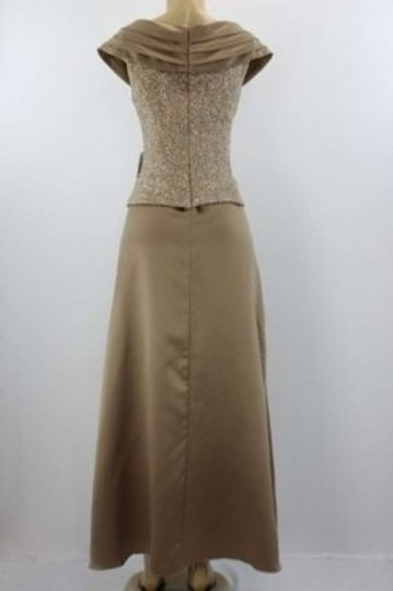 Patra Beige Sparkle Formal Bridesmaid/Mob Dress Size 12 (L)