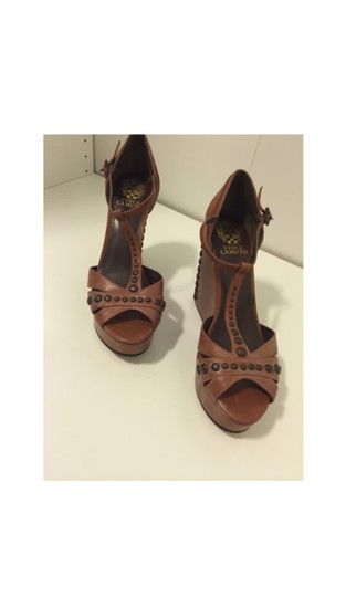 Vince Camuto Brown Wedges Image 3
