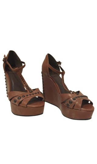 Vince Camuto Brown Wedges Image 4