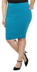 Torrid Polka Dot Size 1 14/16 Skirt Blue
