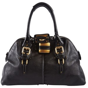 Chloé Paddington Leather Patent Leather Shoulder Bag