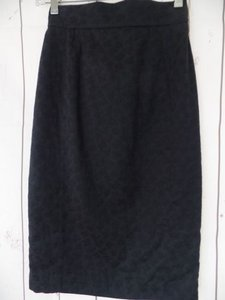 Other Thierry Mugler Paris Vintage Embossed Cotton Made In France Chic Skirt Black
