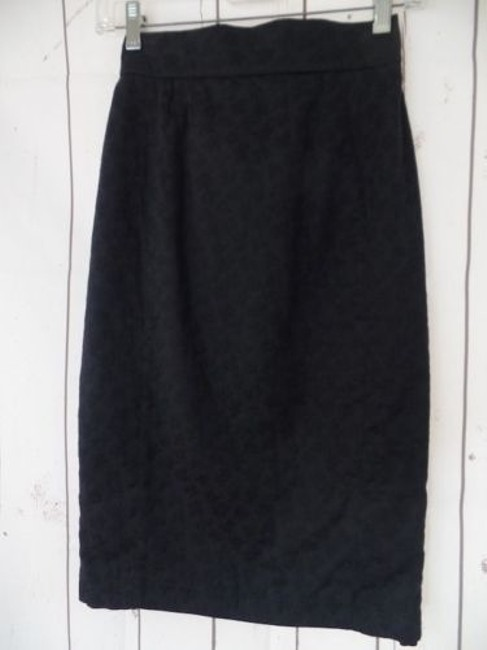 Other Thierry Mugler Paris Vintage Embossed Cotton Made In France Chic Skirt Black Image 1