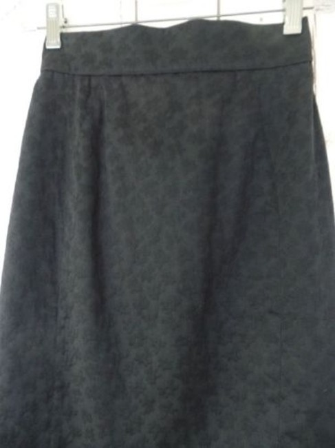 Other Thierry Mugler Paris Vintage Embossed Cotton Made In France Chic Skirt Black Image 3