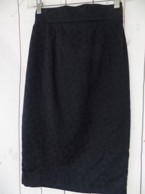 Other Thierry Mugler Paris Vintage Embossed Cotton Made In France Chic Skirt Black Image 4