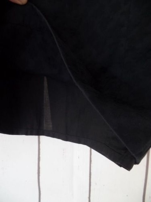 Other Thierry Mugler Paris Vintage Embossed Cotton Made In France Chic Skirt Black Image 5