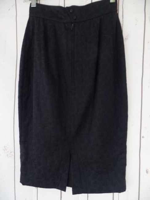 Other Thierry Mugler Paris Vintage Embossed Cotton Made In France Chic Skirt Black Image 6