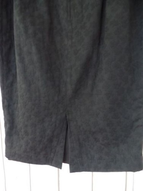 Other Thierry Mugler Paris Vintage Embossed Cotton Made In France Chic Skirt Black Image 7