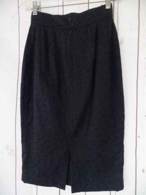 Other Thierry Mugler Paris Vintage Embossed Cotton Made In France Chic Skirt Black Image 9