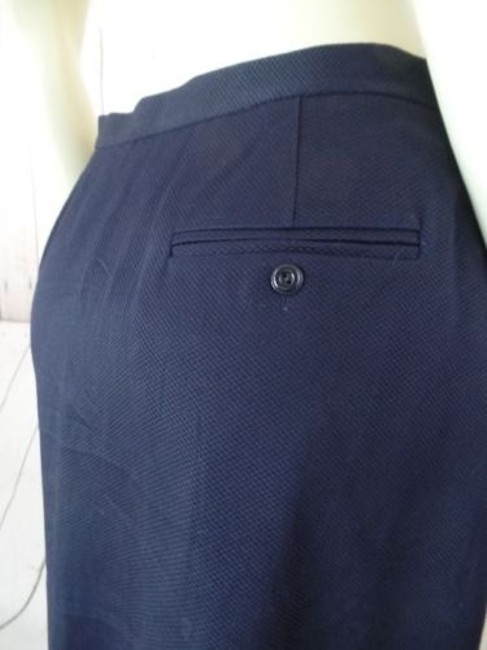 Other Talbots Petites Stretch Cotton Lycra Textured Blend Straight Chic Skirt Navy Blue Image 10