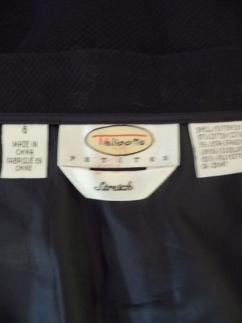 Other Talbots Petites Stretch Cotton Lycra Textured Blend Straight Chic Skirt Navy Blue Image 11