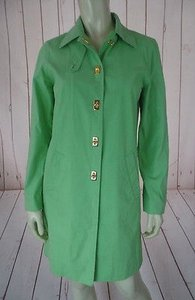 Ralph Lauren Spring Coat Petite Lightweight Cotton Poly Nylon Blend Chic Lime Jacket