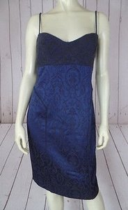 Cynthia Steffe Floral Sheath Viscose Wool Blend Chic Dress