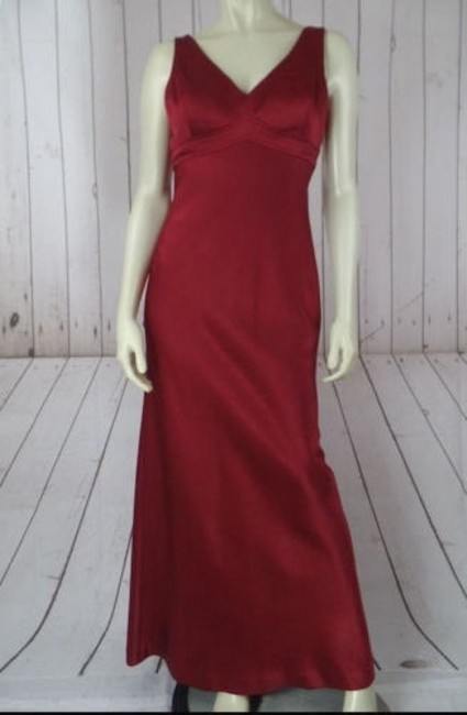 Preload https://img-static.tradesy.com/item/14574841/isabel-ardee-dresses-full-length-gown-red-wine-satin-poly-lined-fitted-elegant-0-0-650-650.jpg