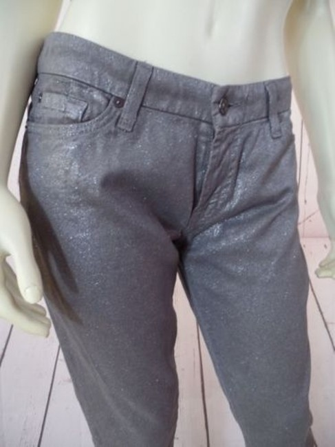 7 For All Mankind Seven Skinny Stretch Low Rise Hot Pants Image 3