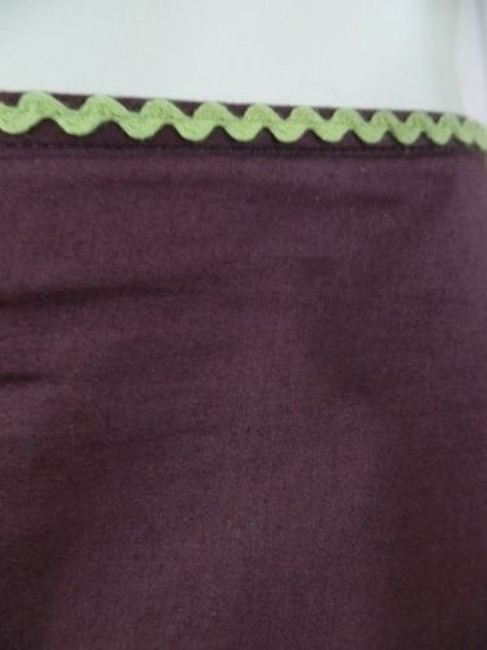 Other Randi Cotton Geometric Embroidered Ruffles Peasant Skirt Brown Greens Beige Purple Image 3