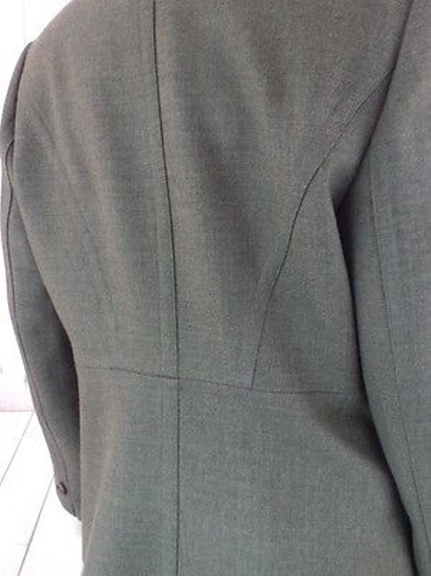 Ann Taylor Ann Taylor Blazer Olive Green Heather Wool Button Front Seamed Waist Chic Image 10
