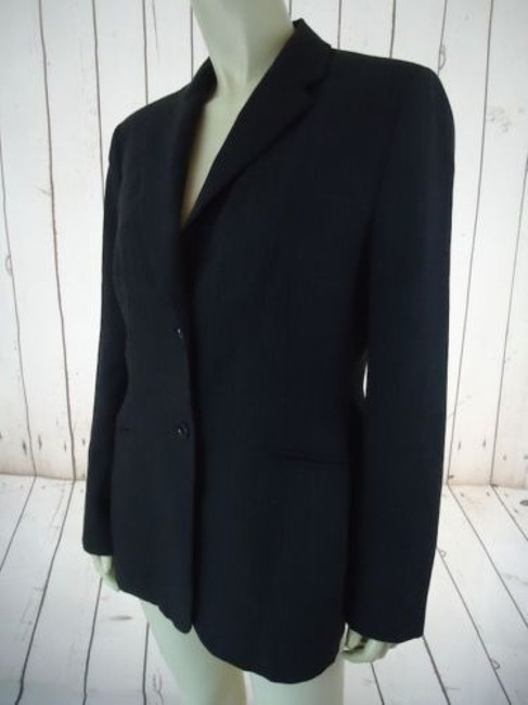 Ann Taylor Ann Taylor Blazer Dark Gray Heather Fine Stripe Wool Blend Lightweight Classy Image 5