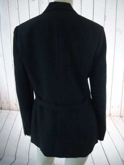 Ann Taylor Ann Taylor Blazer Dark Gray Heather Fine Stripe Wool Blend Lightweight Classy Image 6